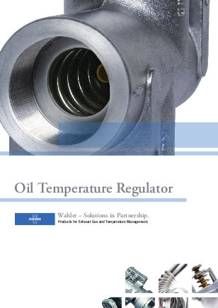 Wahler Oil Temperature Regulator