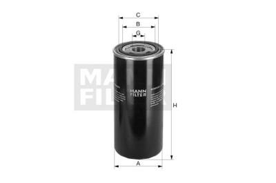 Mann Filter: Mann & Hummel Wechselfilter / Ölfilter, 25 bar / WD 950