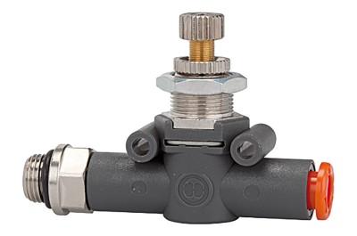 Durchflussregler LINEONLINE, G 3/8, Ventilmontage, Schlauch-Gew., 8 mm 412.038-8