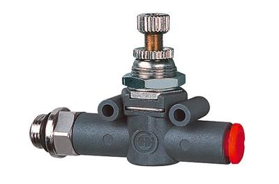 Durchflussregler LINEONLINE, G 1/4, beidseitig, Gew.-Schlauch, 8 mm RI-414.014-8