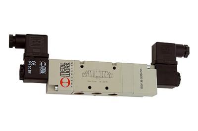 5/3 Wegeventil e-pneum., G1/8, 24V DC, Zentrum geschlossen, DN5 517.301