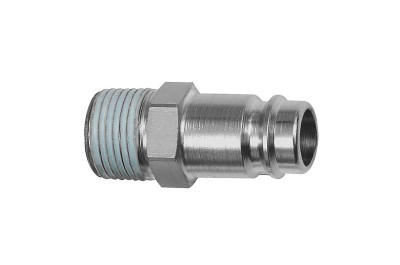 Schlauchnippel / NW 10, Stahl, PTFE beschichtet, Außengewinde R 1/4 107457