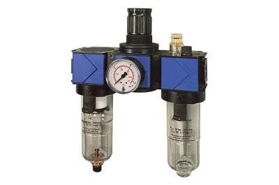Wartungseinheit 3-tlg. variobloc G 1 mit Polycarbonatbehälter mit Manometer VW16