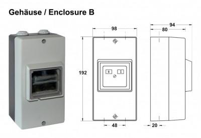 Condor Druckschalter Gehäuse B IP 55 / 202561