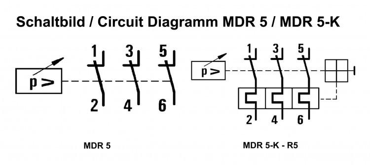 Condor Druckschalter MDR 5/5 bar / 212850