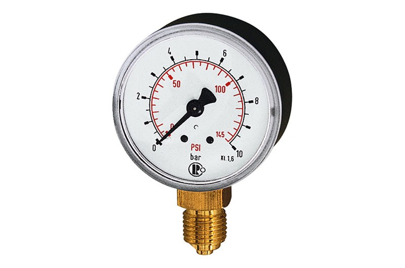 Standard Manometer 0-2,5 bar / 36 psi, Ø 40 mm, G 1/8, Kunststoff  RI-110 32-KD