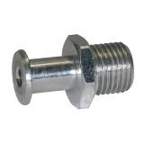 Saugeranschlussnippel NW 2,0, M 5 AG, Länge: 5 mm für Balgsauger rund RI-313.004