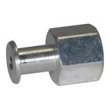 Saugeranschlussnippel NW 2,0, M 5 IG, Länge: 5 mm für Balgsauger rund RI-314.004