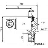 Mahle Filter: Differenzdruckanzeiger PiS 3092 /2,2 bar elektrisch / 77669856