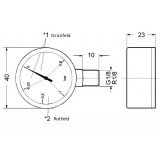 Mahle - Filtration Group: Manometer R1/8-NG 40 / 76345763