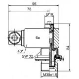 Mahle Filter: Staudruckanzeiger/Druckschalter PiS 3084 /1,2 bar mechanisch / 77669781